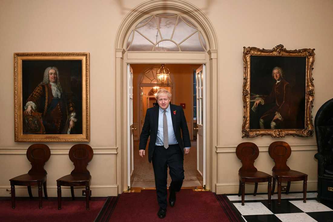 Storbritanniens premiärminister Boris Johnson på väg till en audiens hos drottning Elizabeth II. Arkivbild