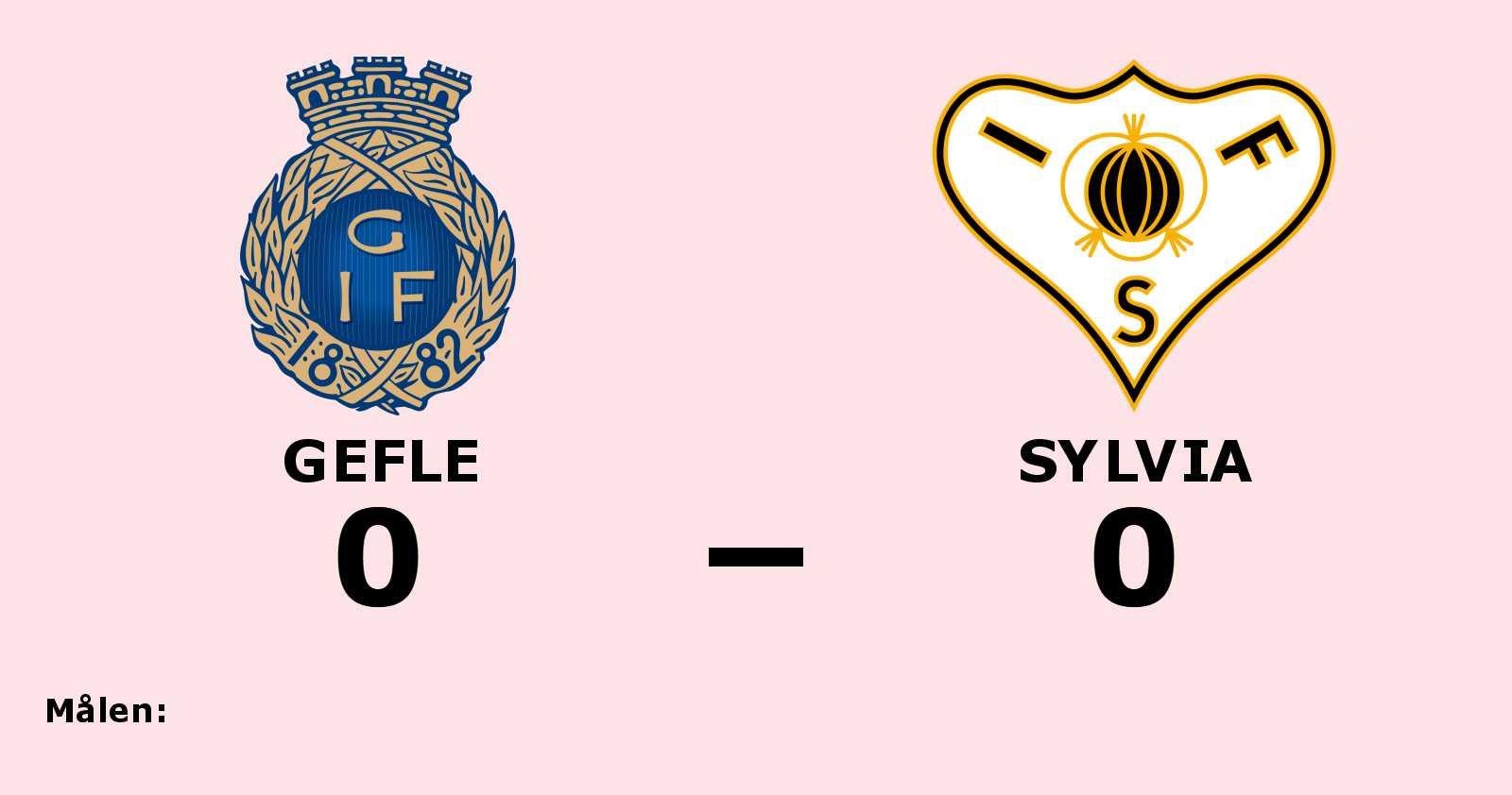 Gefle bröt Sylvia segersvit