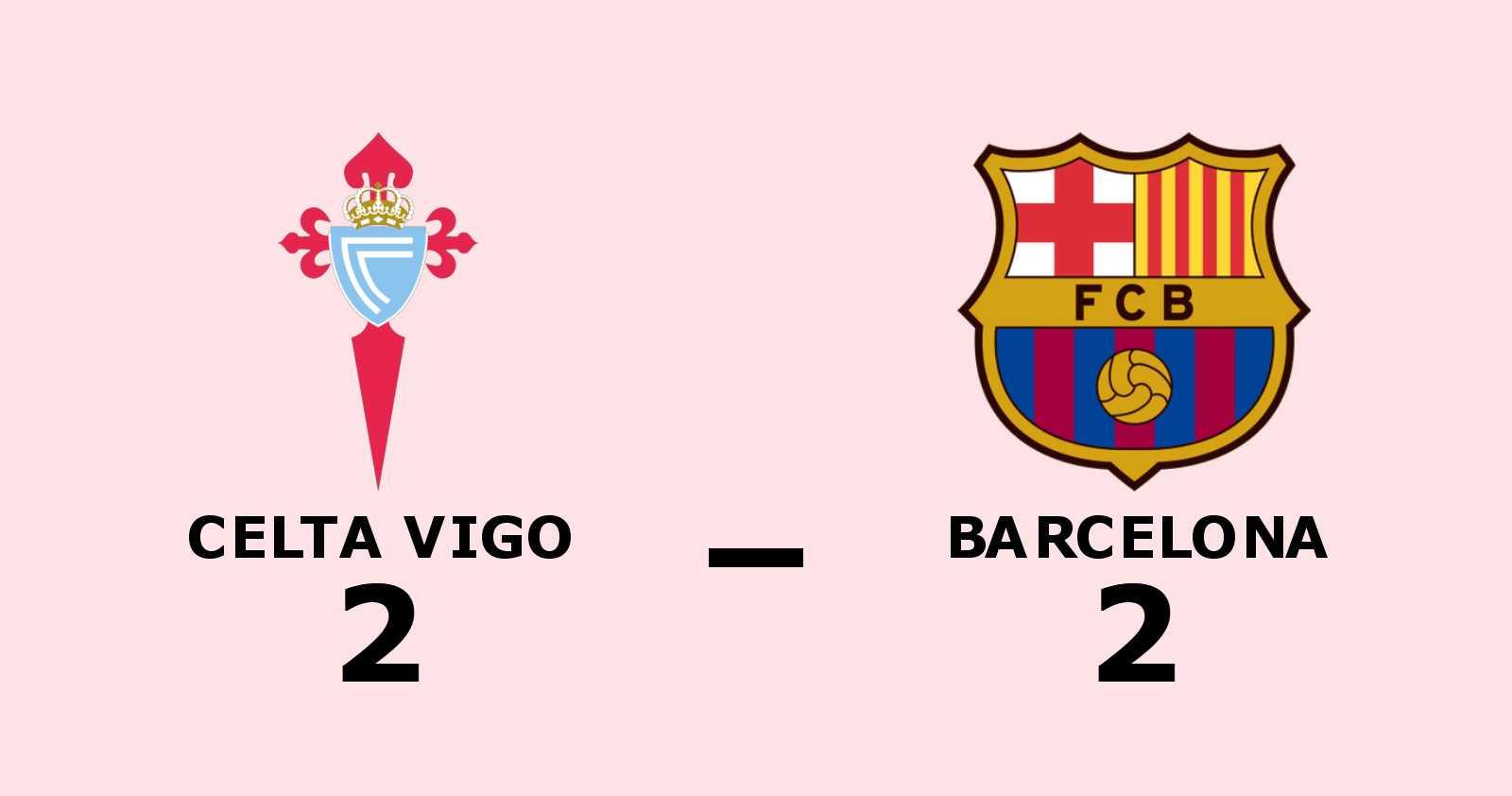 Celta Vigo kryssade mot Barcelona