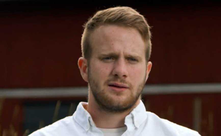 Tv-bonden Erik Bäckman.