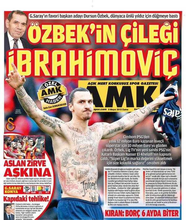 Turkiska tidningen AMK i dag.