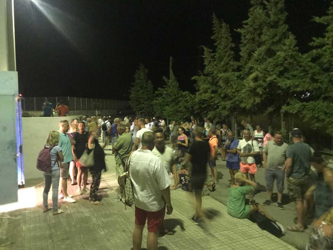 Krisläger på Samos.