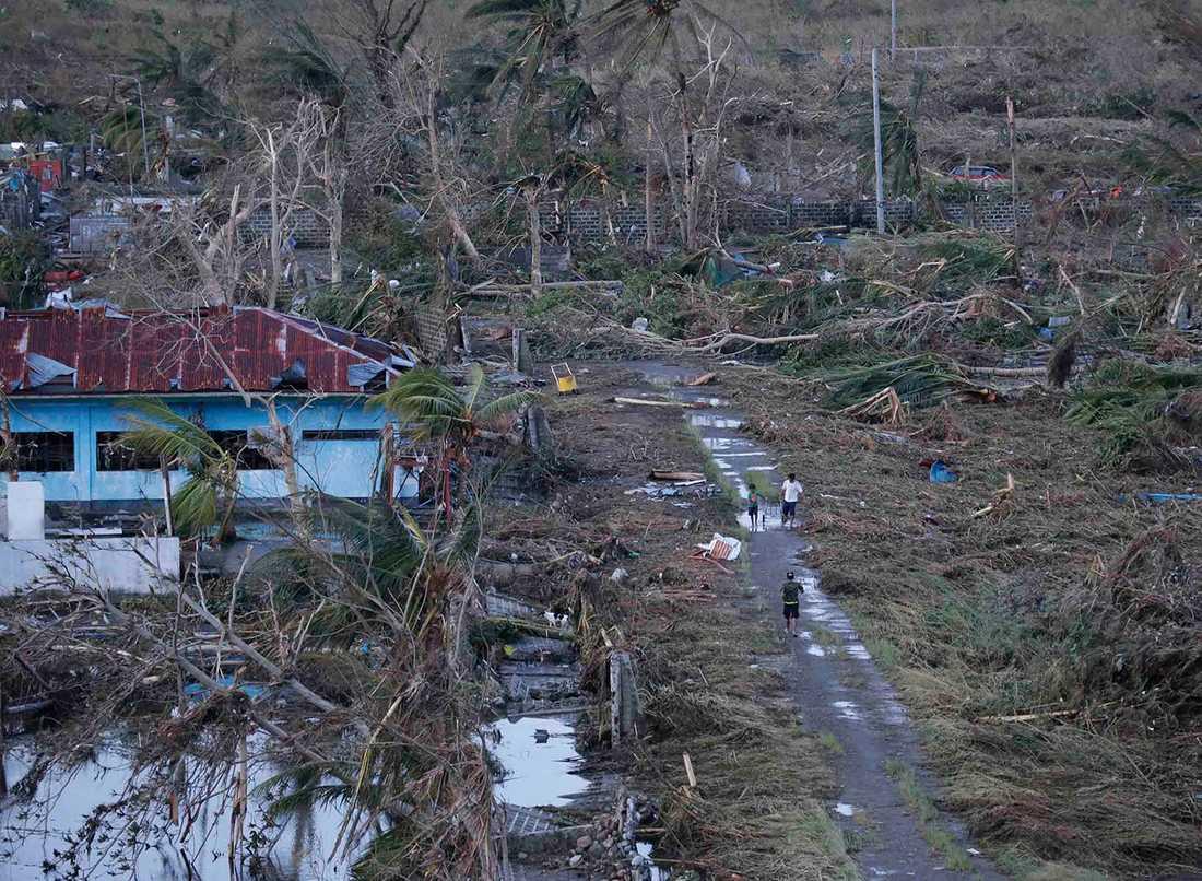 Tacloban city drabbades hårt.
