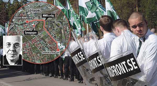 Polisen hänvisade nazisterna till en ny marschväg – nära synagogan i Göteborg. På Jom Kippur, judarnas heligaste dag. Nej, det är inte 30-talet utan hösten 2017 i Göteborg, Sverige, skriver Willy Silberstein.
