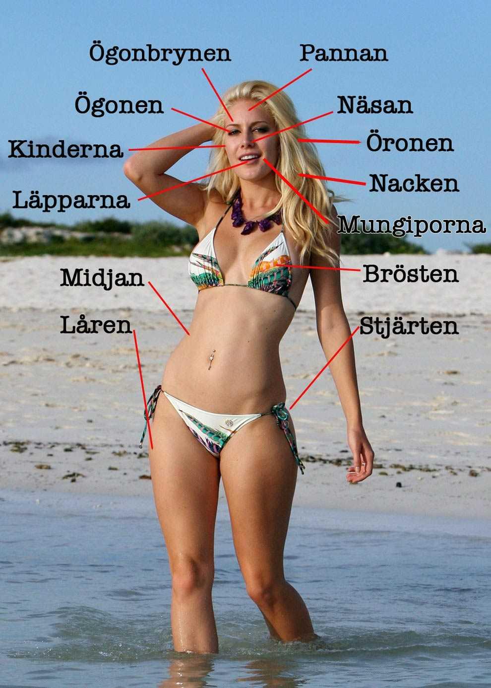 Heidi efter operationerna. Klicka för att förstora bilden – och ta del av alla Heidis operationer.