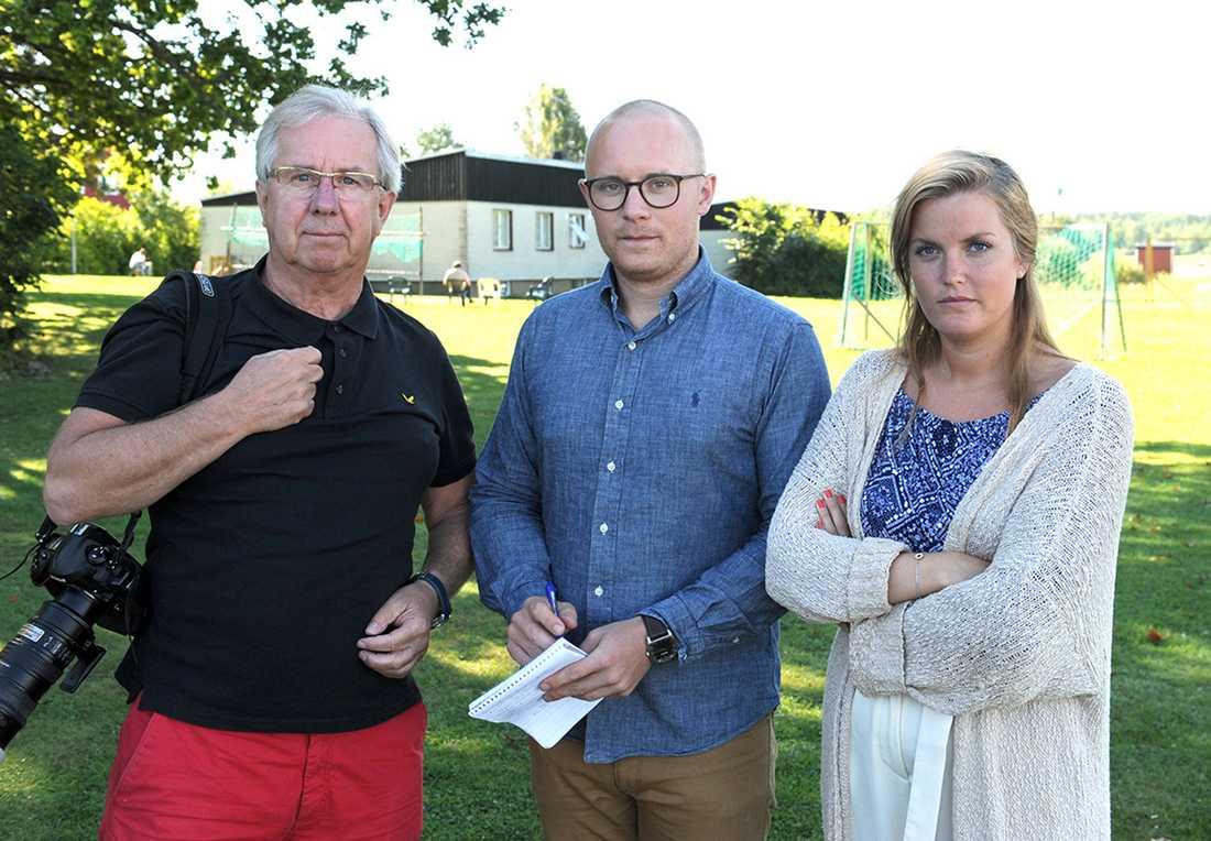 Aftonbladets team på plats vid asylboendet i Kungsör.