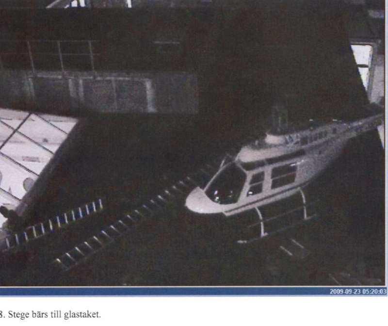 Västbergarånet genomfördes med hjälp av en helikopter.