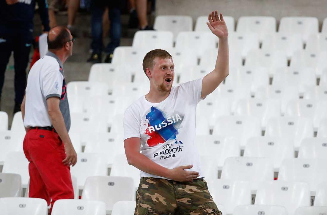 Rysk supporter.