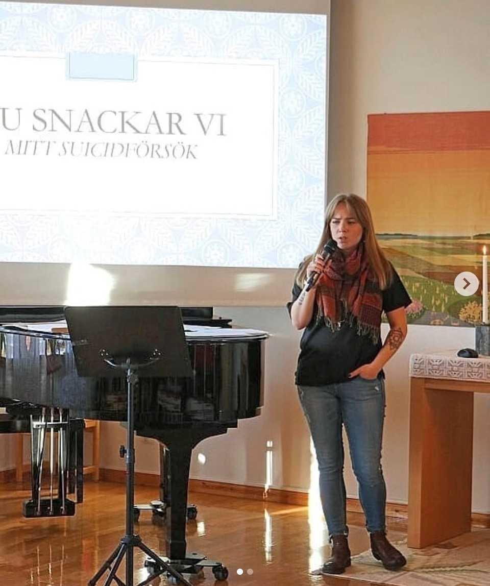 Sissela Persdotter Bremmers föreläser också om sina erfarenheter.