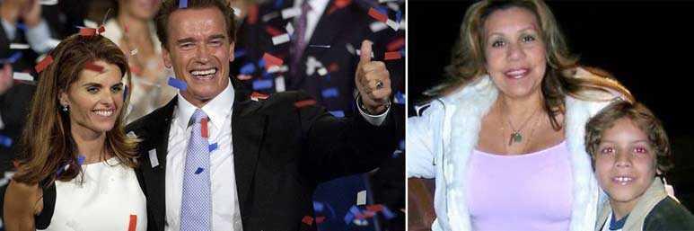 GRAVIDA SAMTIDIGT  Schwarzenegger har bekänt otroheten och nu växer sexhärvan runt guvenören. Här står han med sin ex-fru Mariah Shriver.