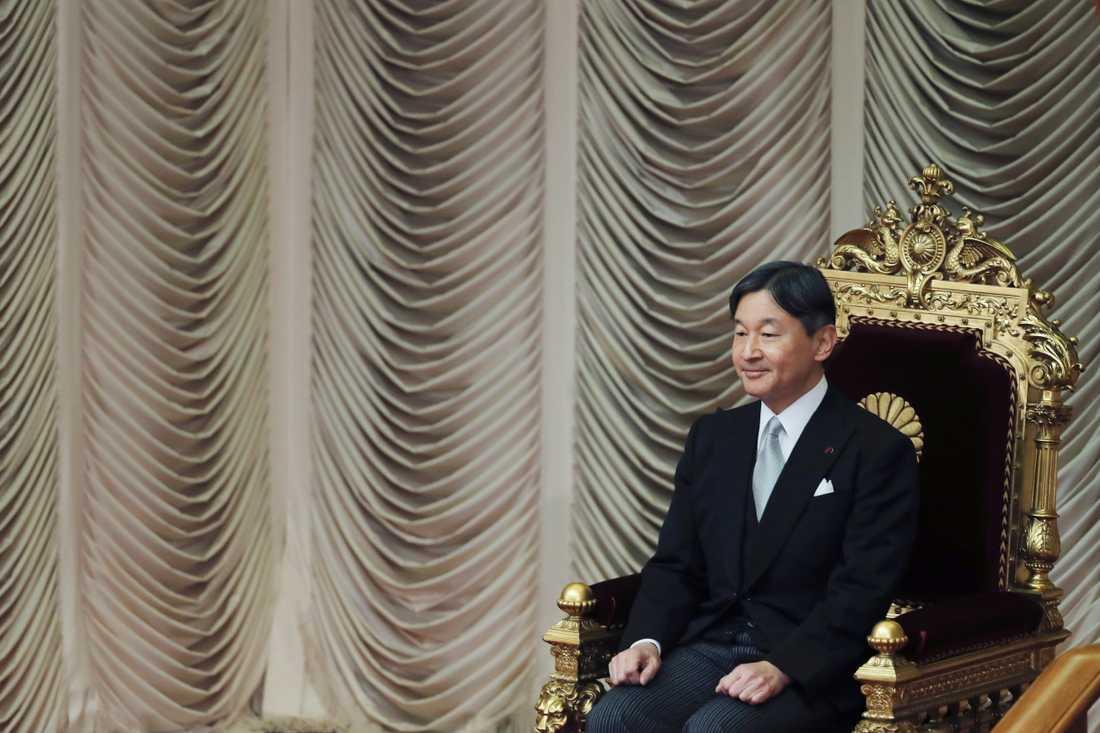 Japans kejsare Naruhito. Arkivbild.