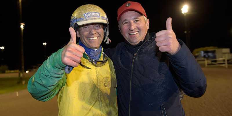 Goop och Face Time Bourbons tränare Sébastien Guarato glada efter Europaderbyt. Fler segerleenden lär komma...