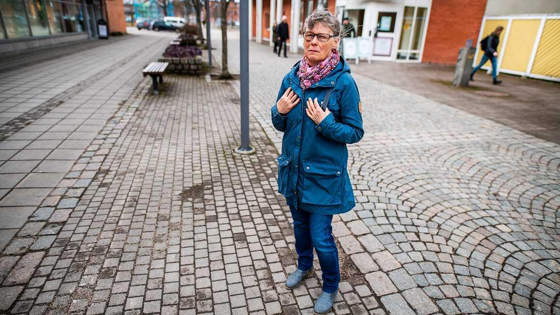 """Inger Andersson ångrar sig inte. """"Jag sa till mig själv att jag inte får bli rädd. Sedan har jag ju haft ett rejält blått öga och jag är fortfarande öm i kroppen"""", säger hon."""