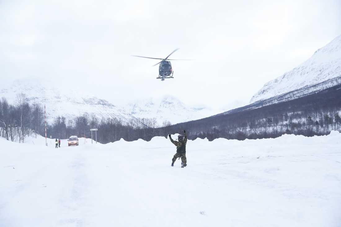 Den försvunna helikoptern har hittats. Bilden är tagen i ett annat sammanhang.