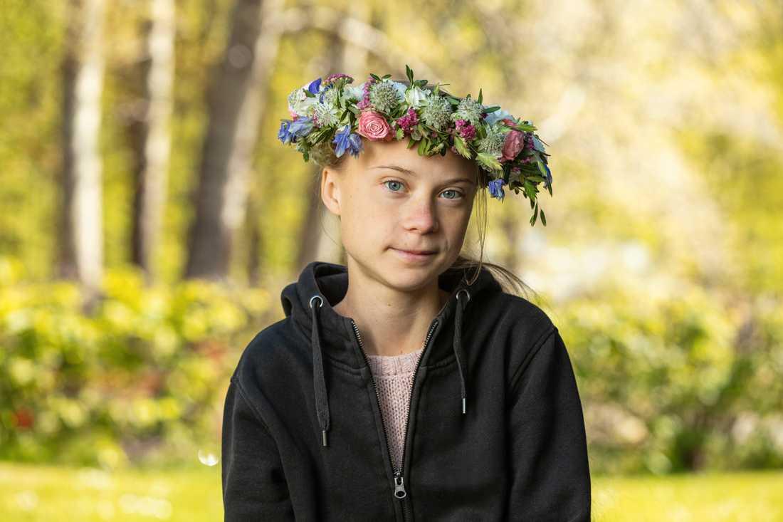 Greta Thunberg var först ut av årets sommarpratare. Hennes program blev det mest lyssnade programmet – både i radio och som podd. Pressbild.