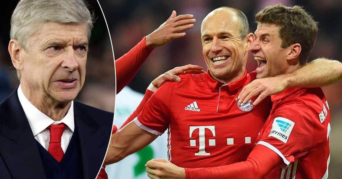 Wengers Arsenal ställs mot Bayern München.