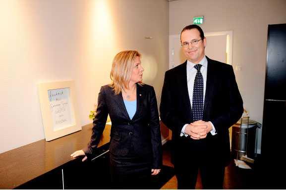 LITEN SKILLNAD Magdalena Andersson (S) och Anders Borg (M) står för samma katastrofala åtstramningspolitik.