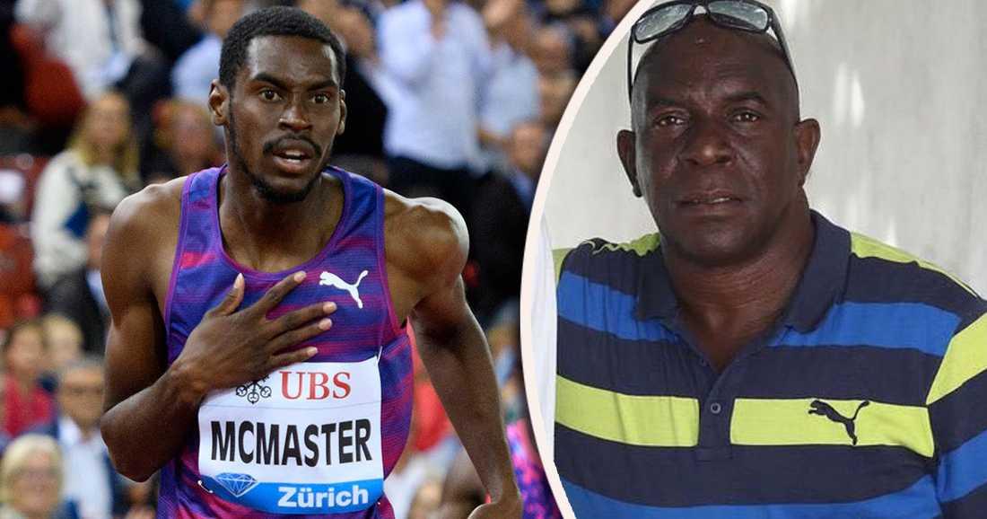 Xavier Samuels (t.h.), tränare till bland andra häckstjärnan Kyron McMaster, uppges ha omkommit av orkanen i Karibien.