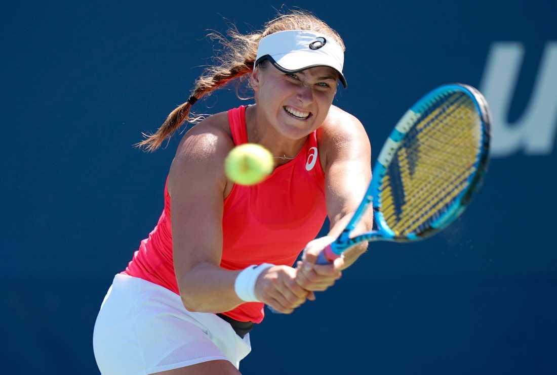 Rebecca Peterson under en match i US Open