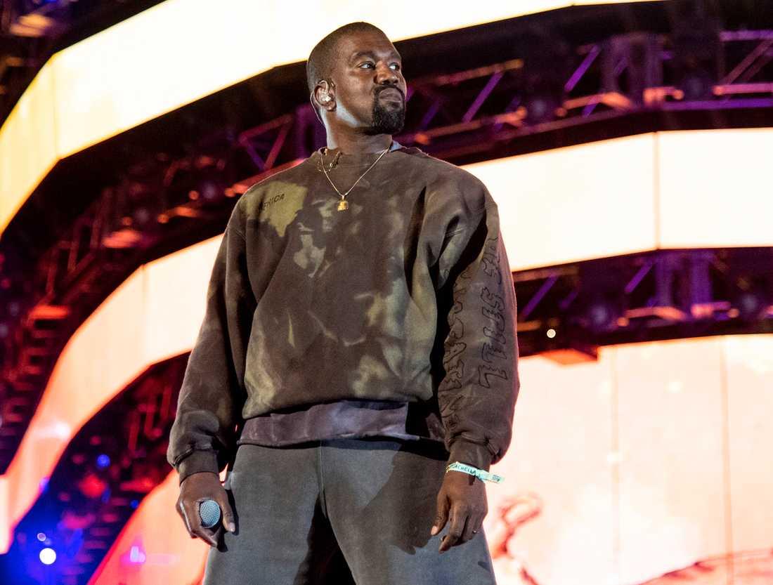 Kanye West uppträdde på Coachella 2019.