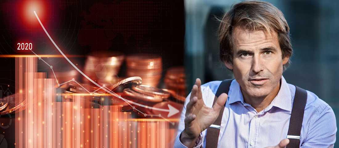 """Sparekonomen Claes Hemberg varnar för kraftigt aktiefall när samhället får kontroll på coronapandemin : """"Risken finns"""""""