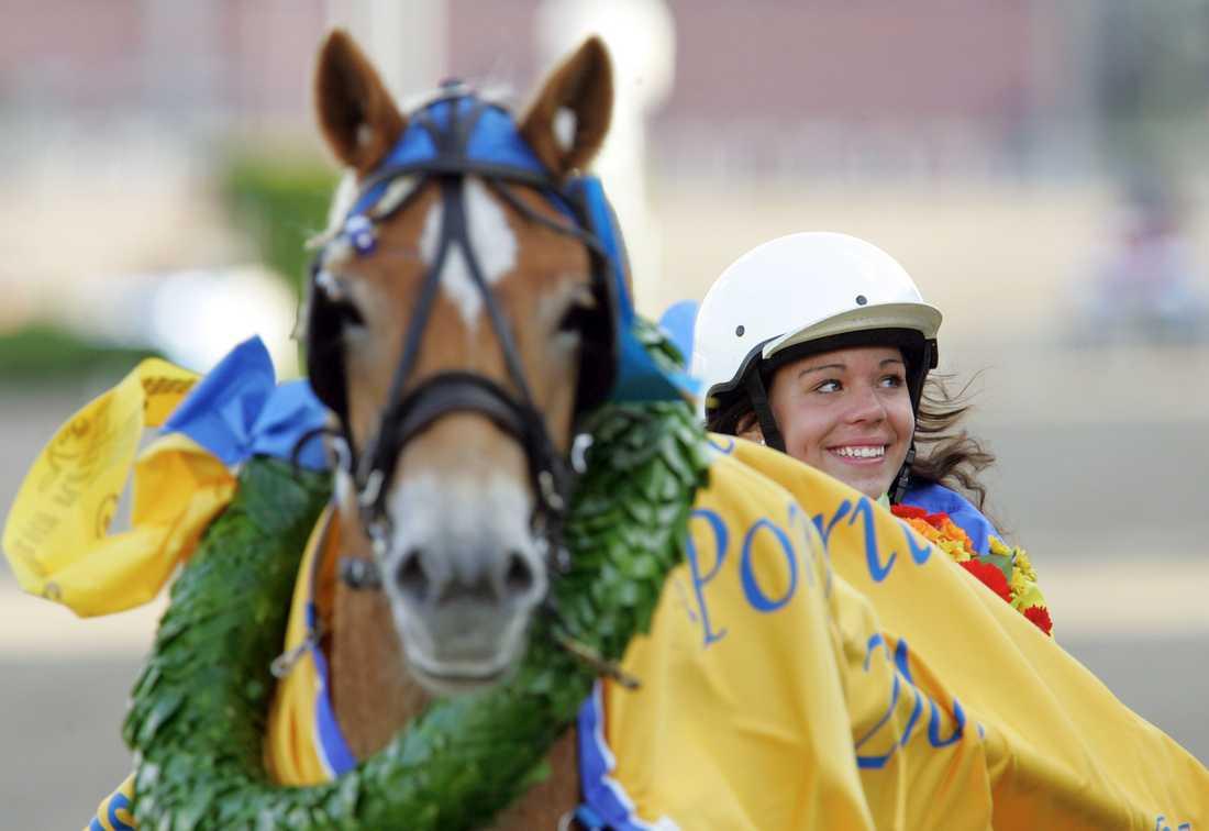 Michelle, då Ingerstad, var en framgångsrik ponnykusk i Sverige