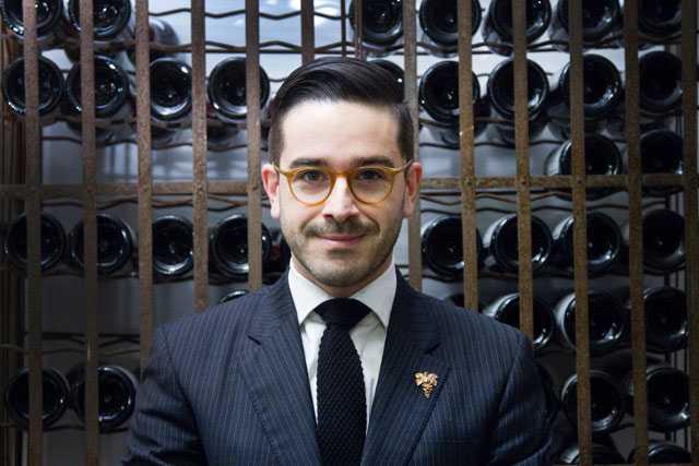 Rubén Sanz Ramiro arbetar som chefssommelier på PM & Vänner i Växjö.