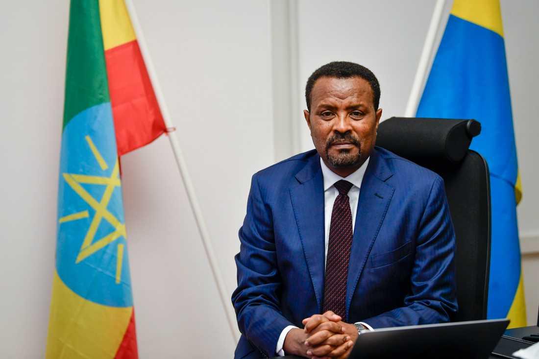 Etiopiens ambassadör i Sverige, Deriba Kuma Heiy.
