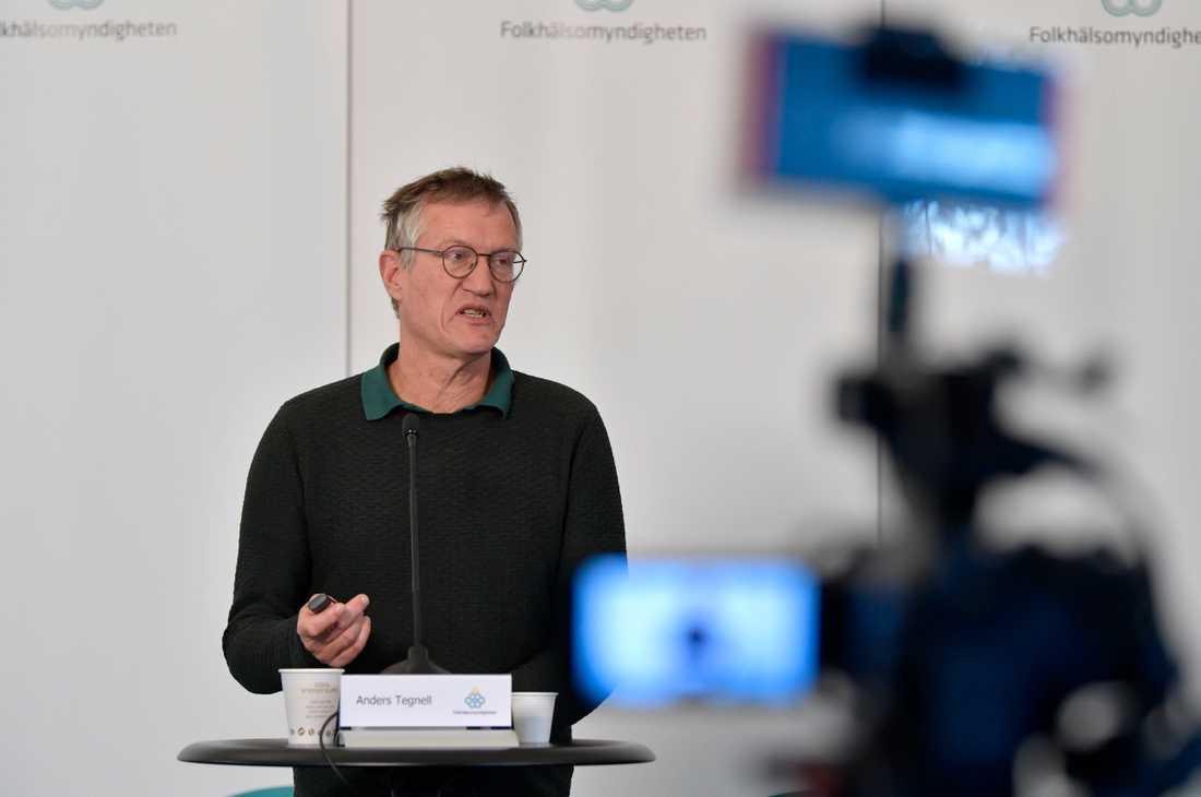 Anders Tegnell, statsepidemiolog Folkhälsomyndigheten, under en tidigare pressträff om coronapandemin och covid-19.