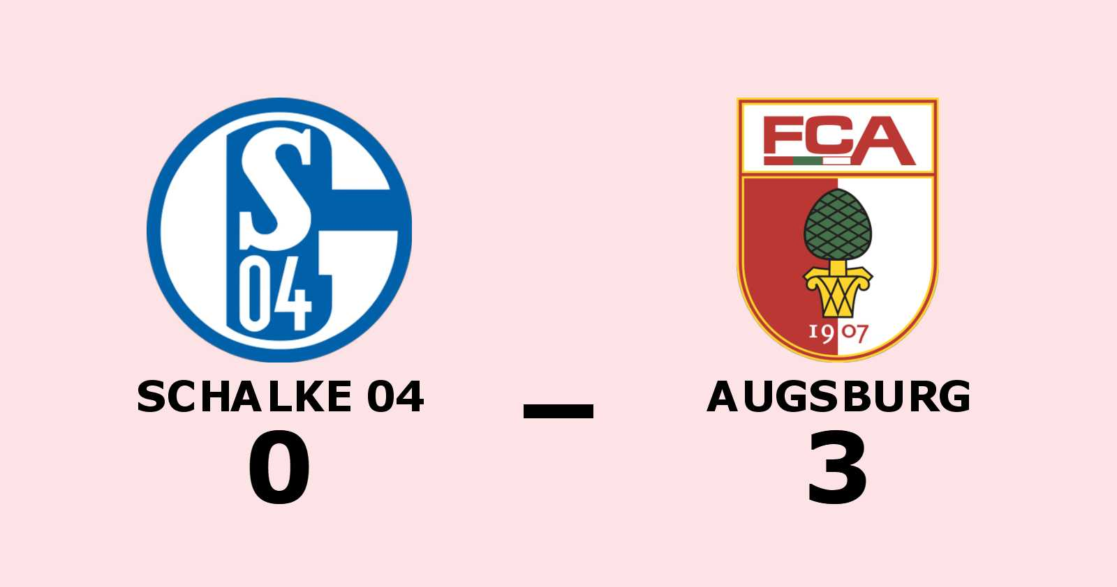 Förlustsviten bruten för Augsburg - efter 3–0 mot Schalke 04