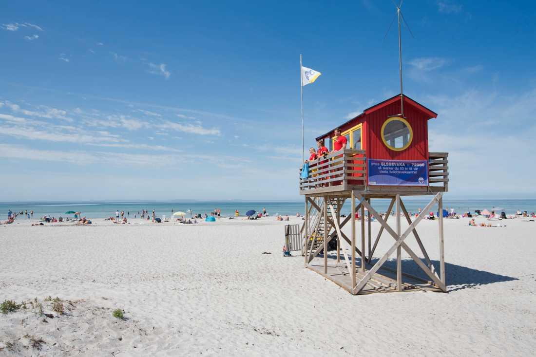 Skanörs havsbad är en av nio stränder som får flagga blått i sommar. Arkivbild.