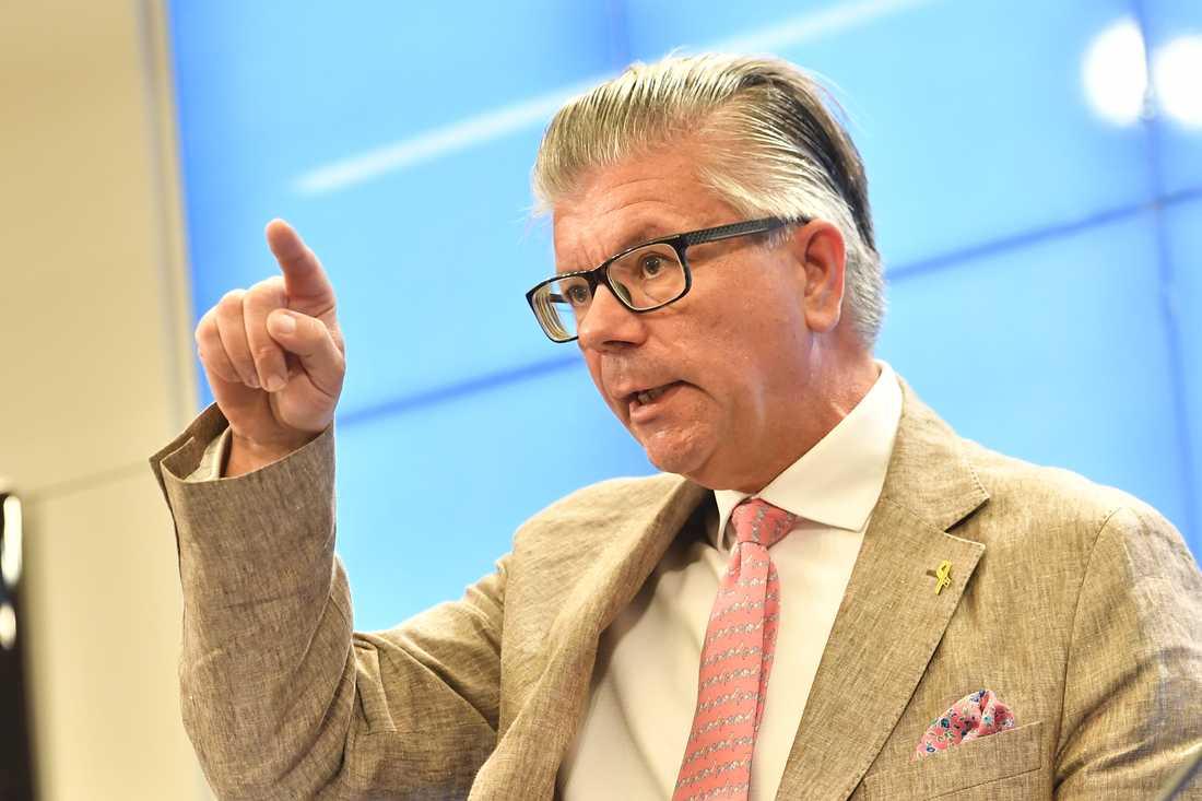 Moderaternas utrikespolitiska talesperson Hans Wallmark är starkt kritisk till Socialdemokraternas röst för att Ryssland ska få delta i Europarådets arbete igen. Arkivbild.