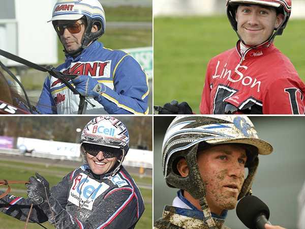 Jorma Kontio, Johan Untersteiner, Ulf Ohlsson och Christoffer Eriksson är nominerade i kategorien Årets Kusk
