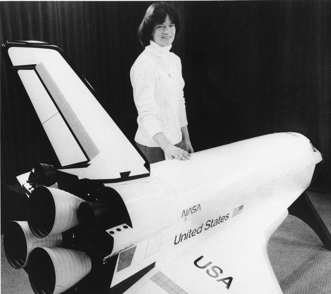 Sally Ride blev den tredje kvinnan i rymden. Efter sina två rymdresor arbetade hon bland annat som fysikprofessor, och hade ett stort engagemang för att få fler flickor att intressera sig för teknik och vetenskap. Arkivbild.
