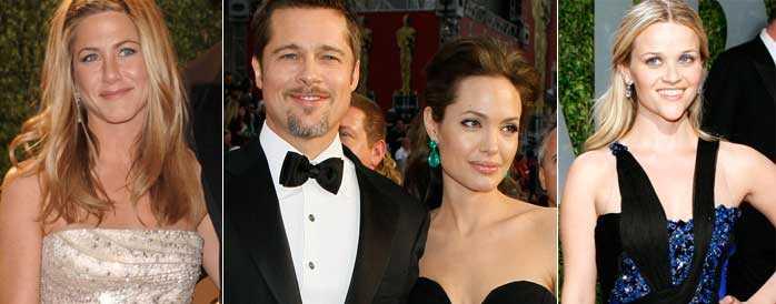 Jennifer Aniston, Brad Pitt, Angelina Jolie och Reese Witherspoon glittrade ikapp.