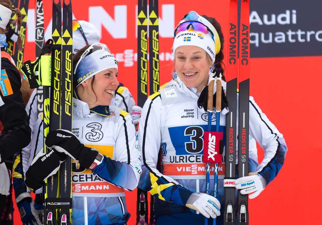 Charlotte Kalla och Hanna Falk.