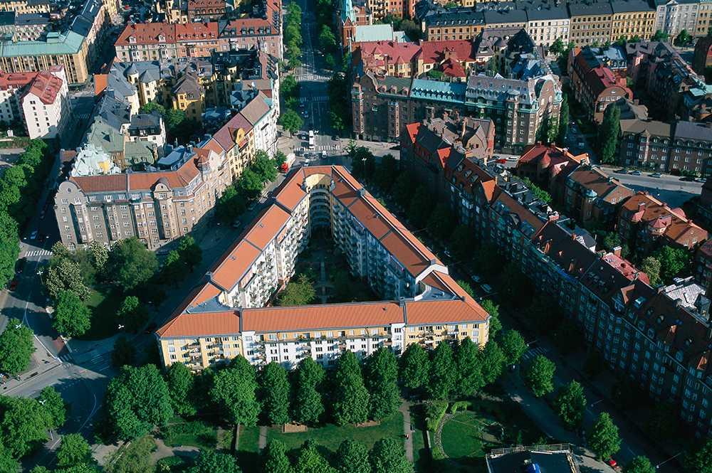 På Östermalm i Stockholm finns föreningar med noll kronor i månadsavgift.