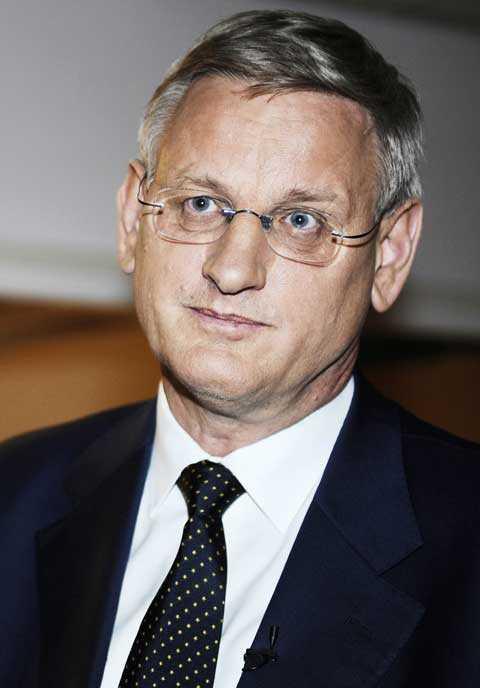 Utrikesministern Carl Bildt, M