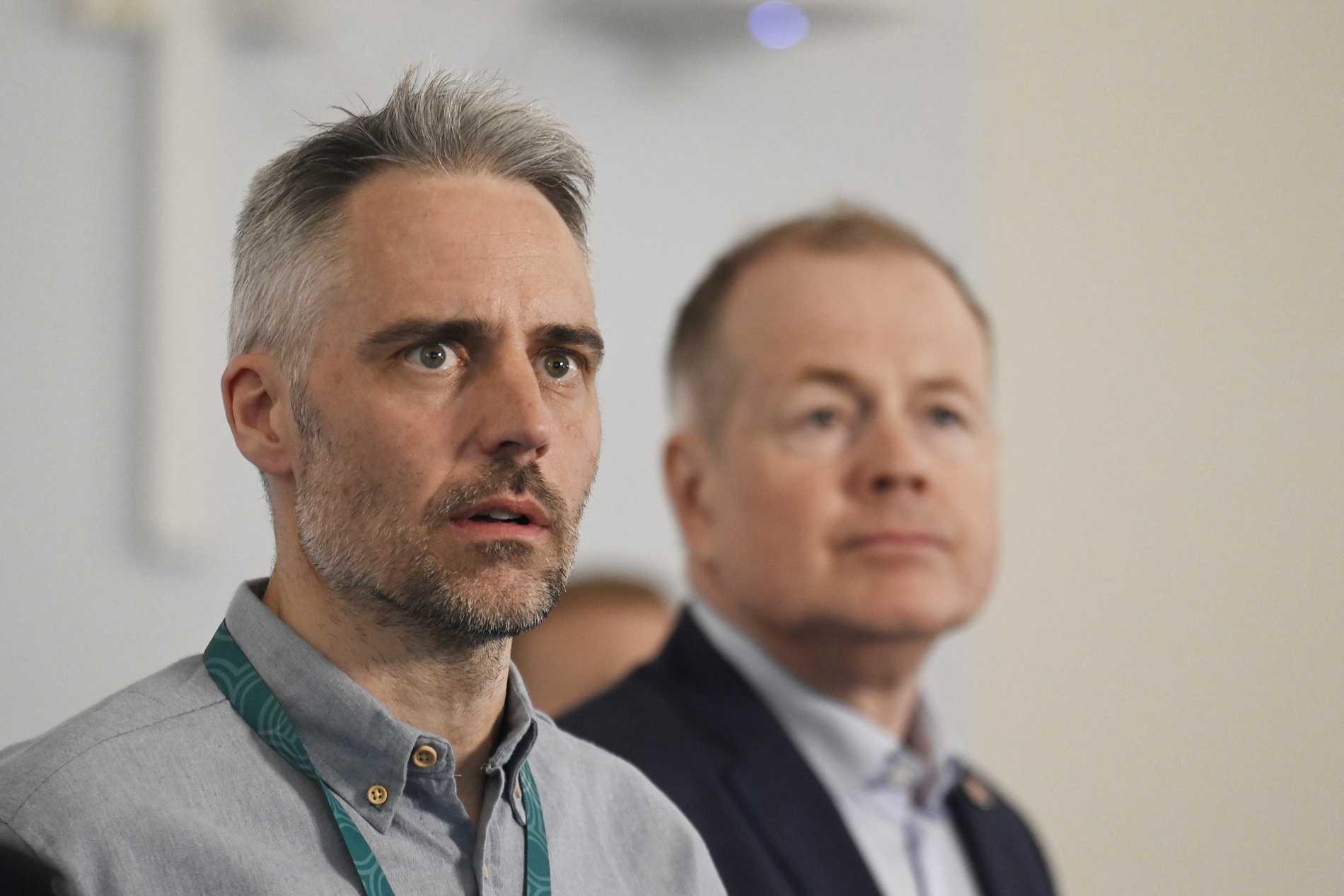 Anders Wallensten, biträdande statsepidemiolog, på tisdagens pressträff.