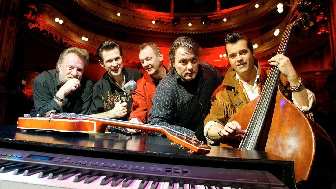 Peter Jezewski (längst till höger) med The Boppers 2003.