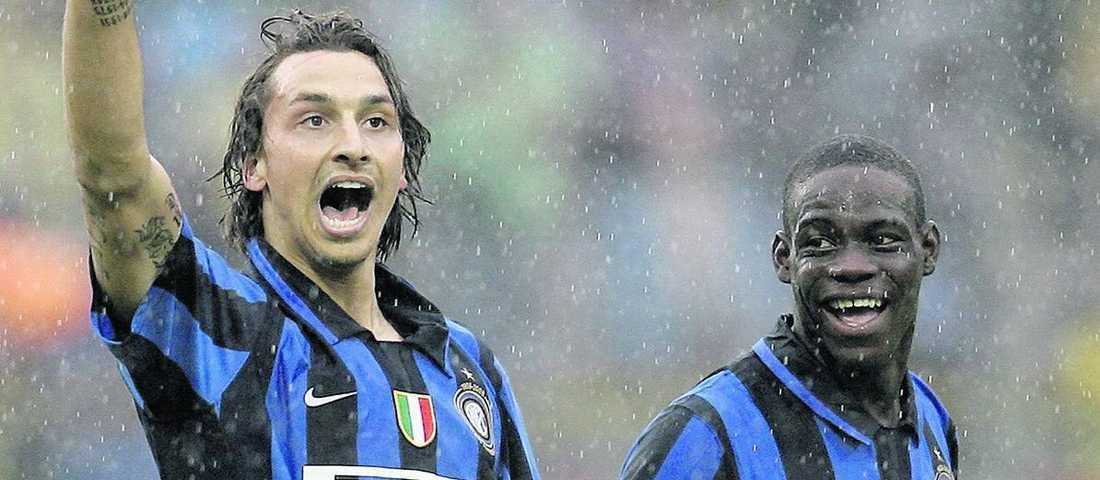 Zlatan tillsammans med Balotelli i Inter.