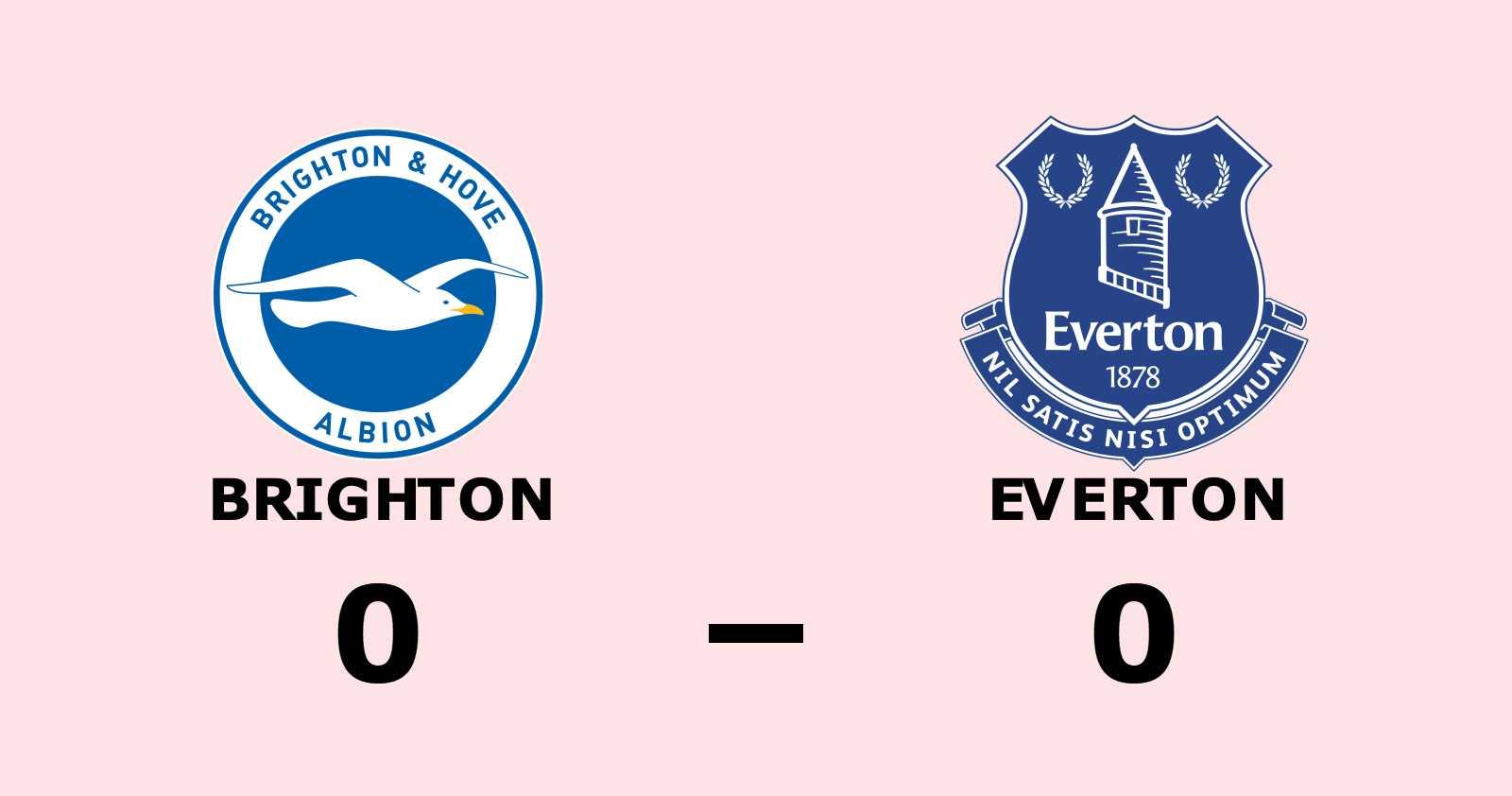 Brighton och Everton kryssade