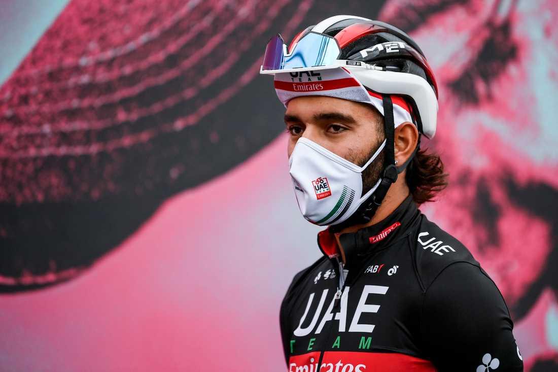 Fernando Gaviria inför torsdagens 13:e etapp i Giro d'Italia.