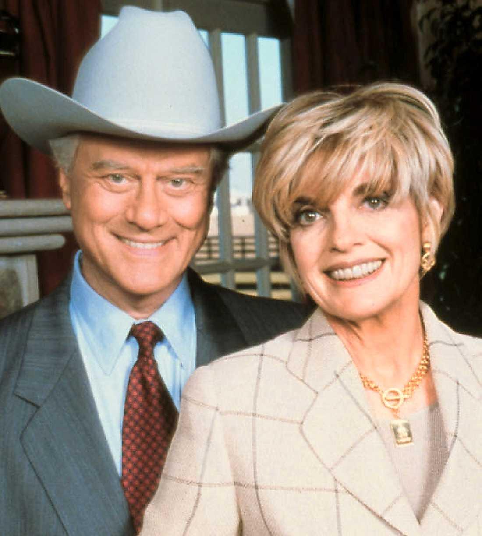 """Larry """"JR"""" Hagman och Linda """"Sue Ellen"""" Gray."""