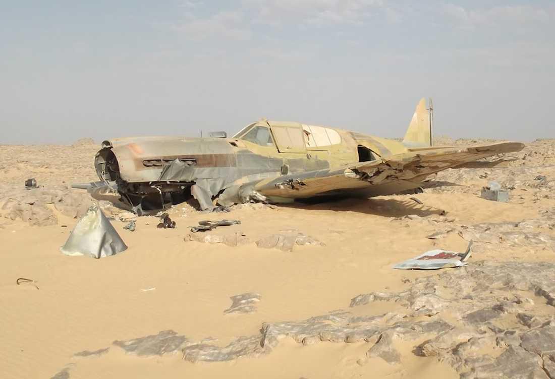 Efter kraschen för 70 år sedan har flygplanet närmast konserverats i den unika miljön.