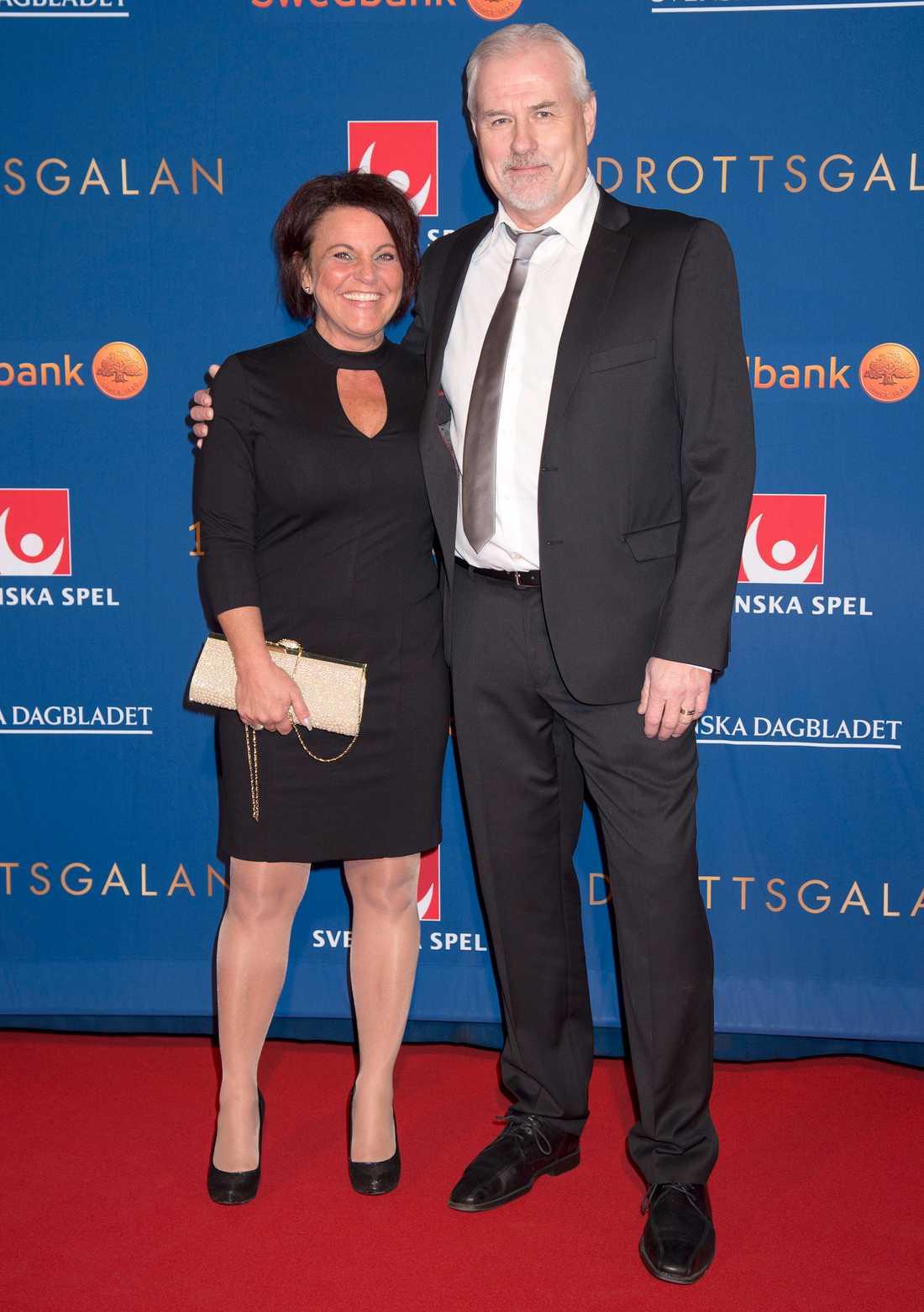 Camilla Lendott och Glenn Hysén.