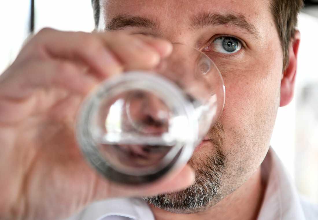 Kallingebon Herman Afzelius är ordförande PFAS-föreningen som har stämt det kommunala vattenbolaget för att i åratal ha levererat dricksvatten som varit förgiftat av de kemikaliska ämnena PFAS. Arkivbild.