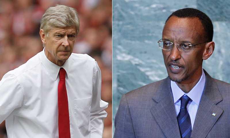 Arséne Wenger och Paul Kagame.
