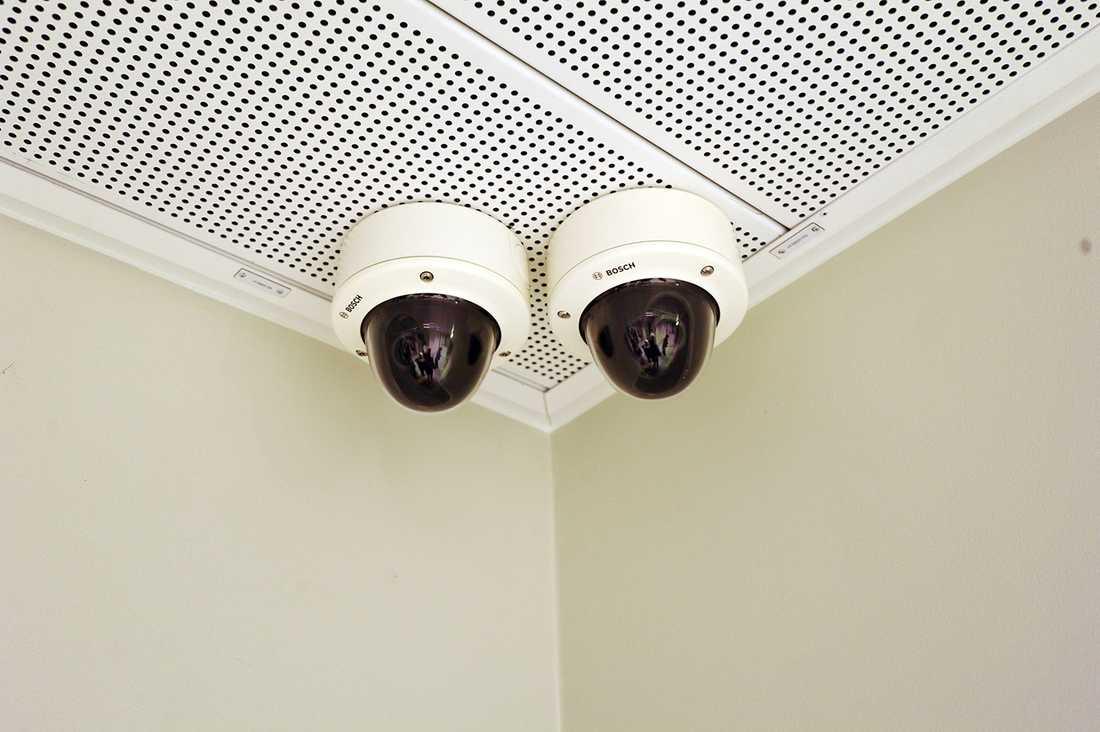 Övervakningskameror i häktet. Arkivbild.