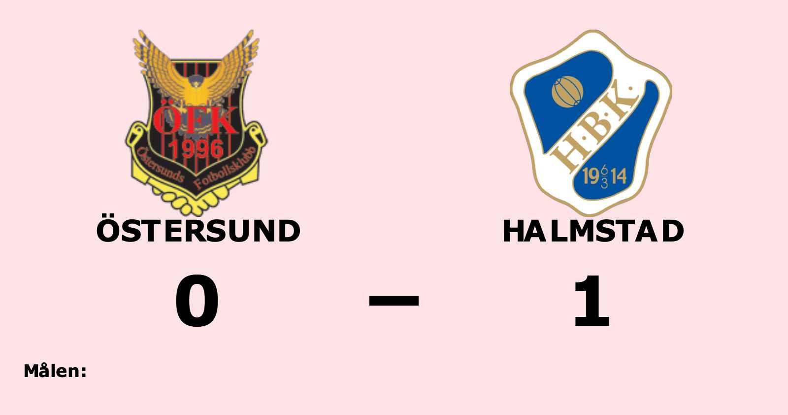 Östersund föll i resultatmässigt jämn match